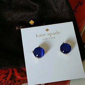 NWT Indigo Blue and Gold Kate Spade Stud Earrings